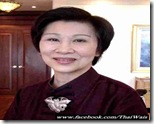 Khunying Chamnongsri Hanchanlash.- Author, Poet, Social Worker and Chairperson - Rutnin Eye Hospital